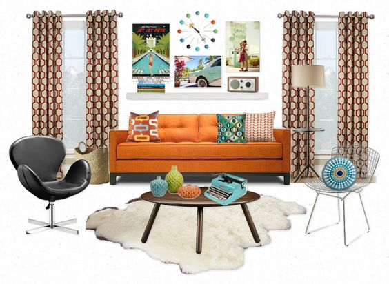 Mid century modern mid century style and modern room on pinterest - Nice decorated apartments ...