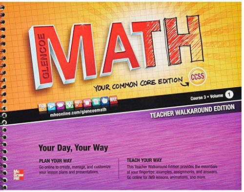 Click To Enlarge 8 Glencoe Math Math Courses Math Books