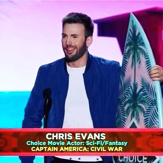 Best Actor: Chris Evans Best Sci-Fi Movie: Captain America: Civil War I've been a fan of Chris Evans and I'm very happy he won these awards. This year's Teen Choice Awards didn't disappoint and I'm happy to have been a part of the fandom.