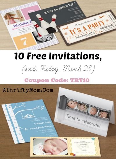 10 Free Invitations, pays $4.00 HURRY and grab this freebie