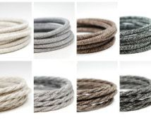 Premium Vintage Fabric Cable | Italian fabric flex | 3 core | sold per meter | Multiple Colours
