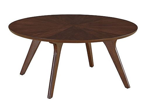 Inspired By Mid 20th Century Scandinavian Design The Hensen Coffee Table Has A Retro Minimalist Lo Round Walnut Coffee Table Mosaic Coffee Table Coffee Table
