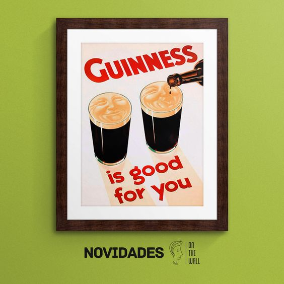 Guinness is good for you - Vintage Lavoie | Crie seu quadro com essa imagem https://www.onthewall.com.br/guinness-is-good-for-you #quadro #canvas #moldura #guinness