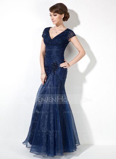 Vestido longo, azul