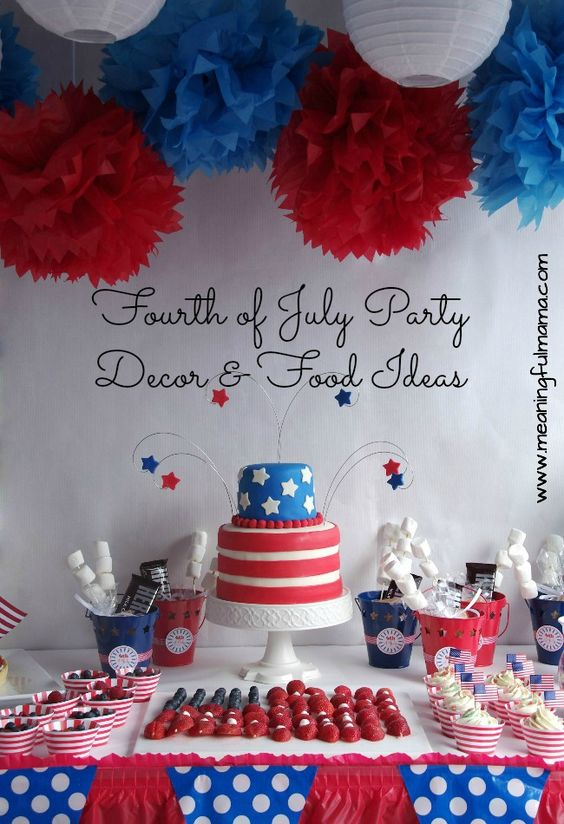 Fourth of july party decorations and food ideas fourth for 4th of july party decoration
