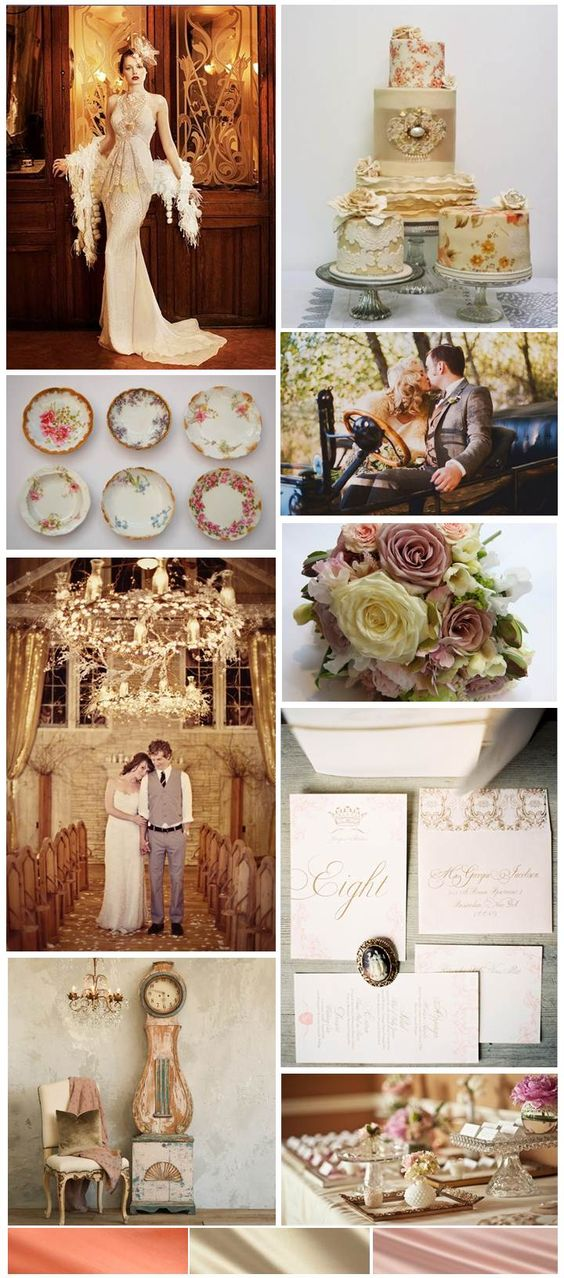 Design Dish :: Chic Antique Wedding - inspiration board designed by The Simplifiers: Event Planning - Austin, TX