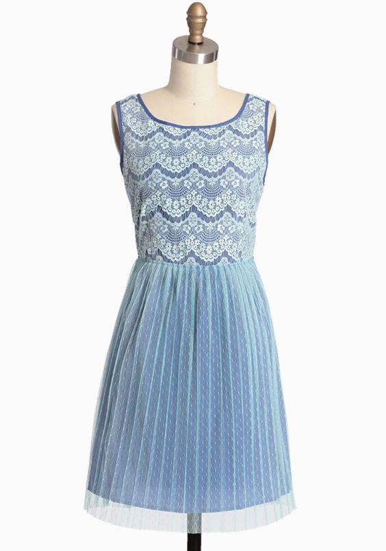 Antigua Skies Lace Dress