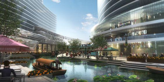 amphibianArc vence competição para o masterplan de Ningbo Yinzhou