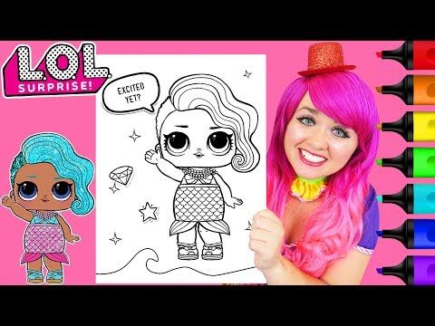 Coloring Lol Surprise Splash Queen Glitter Coloring Page Prismacolor Markers Kimmi The Clown Youtube Coloring Pages Prismacolor Markers Prismacolor