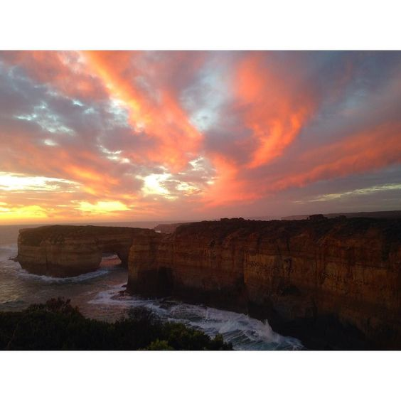 A surreal sight Loch Ard Gorg - The Great Ocean Road  #greatoceanroad #Oz #travel #sunset #bucketlist by beccamoylan