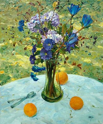 David P. Hettinger American Artist ~ Three Oranges