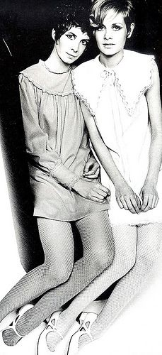 Part of Mary Quant's 'Ginger Group' which included Twiggy.