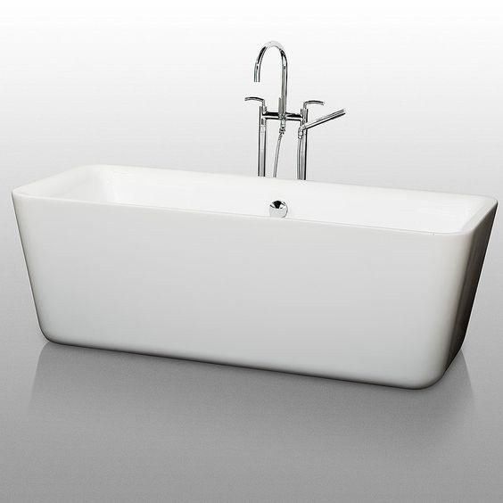 $1399 Emily Soaking Bathtub WC-BT1001-69 by Wyndham Collection