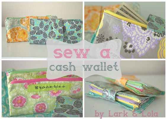 Sew a cash envelope wallet! For Dave Ramsey followers and such :)