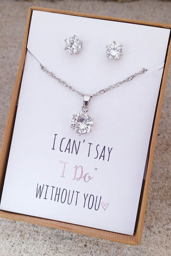 Bridesmaid Gift Jewelry Set