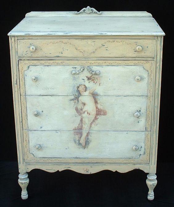 Cherub Painted Dresser Painted Furniture Ideas Pinterest Furniture Ivory And Cherub