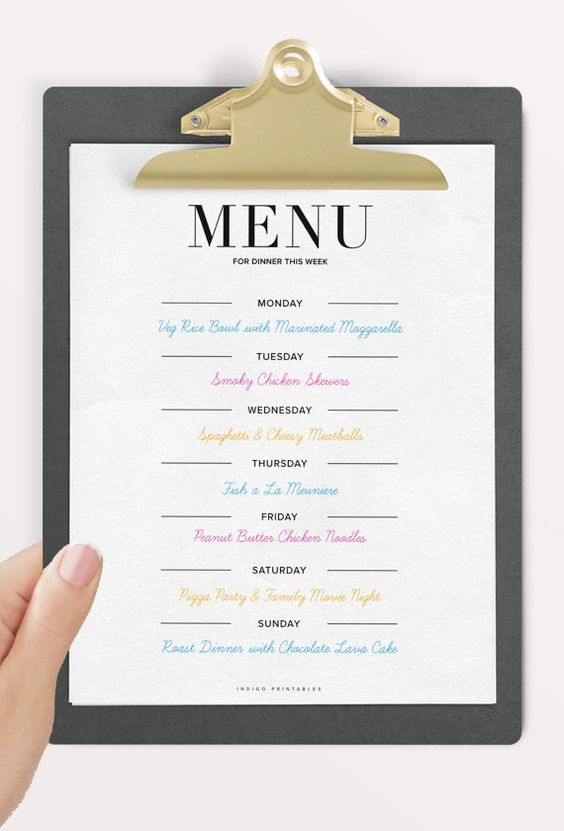 how to plan a party menu