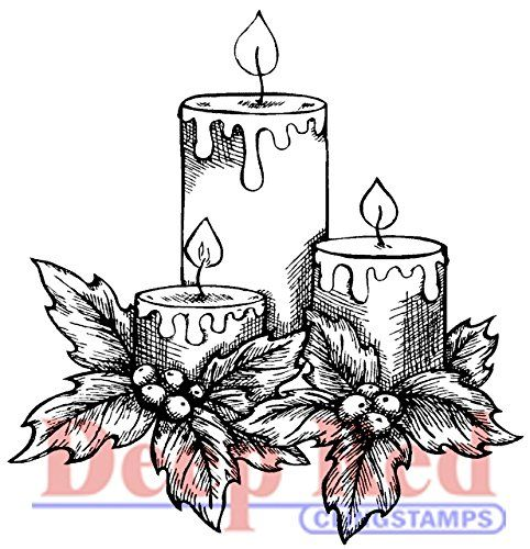 """Deep Red Cling Stamp 2""""X2""""-Holiday Candles Deep Red Stamps http://www.amazon.fr/dp/B00LSZQC58/ref=cm_sw_r_pi_dp_DNokwb1HB3DMY"""