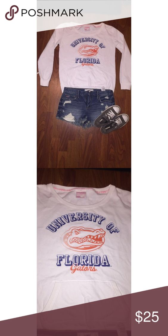 University of Florida crew neck sweatshirt 🐊💙🍊 Like new! Worn once maybe? Perfect condition. So cute and comfy just a little too big on me. Please make an offer :)! PINK Victoria's Secret Sweaters Crew & Scoop Necks