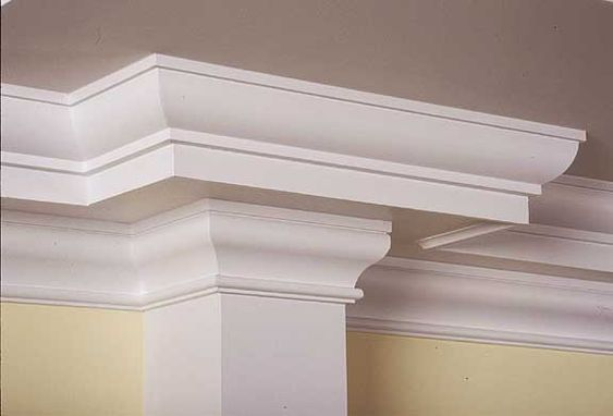 Colonial moldings and molding ideas on pinterest for Ceiling cornice ideas