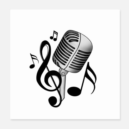 Mikrofon Gesichtsmasken Spreadshirt Notenschlussel Musik Liebe Mikrofon