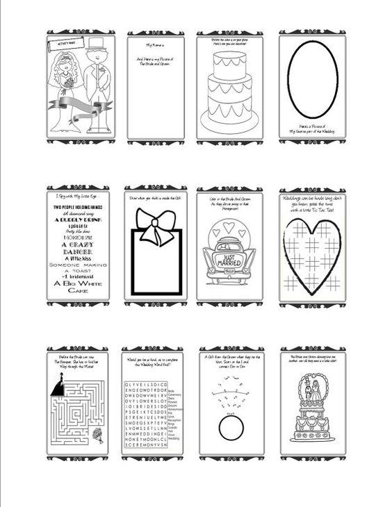 free printable wedding activity book mockeri my style pinterest wedding activities free printable wedding and activities - Kids Wedding Coloring Book