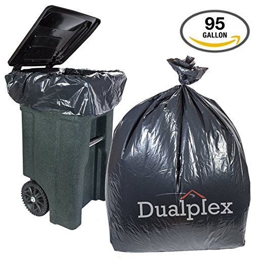 We Use These Bags In Our Big Garbage Can I Can T Stand A Smelly Garbage Can They Work So Well Dualplex 95 Gallon Black Trash Bags Garbage Bag Gallon Bag