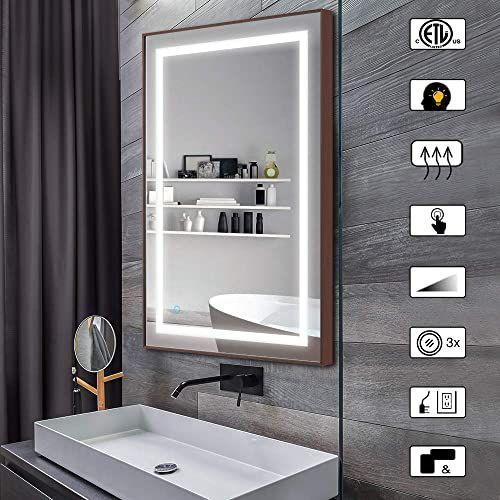 Great For Citymoda 36x24 Inch Lighted Mirror Bathroom Wall Mounted Backlit Design With Adjustable B Bathroom Mirror Bathroom Mirror Lights Led Mirror Bathroom