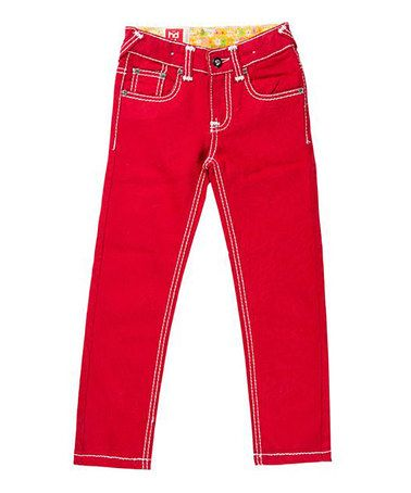 red skinny jeans girls - Jean Yu Beauty