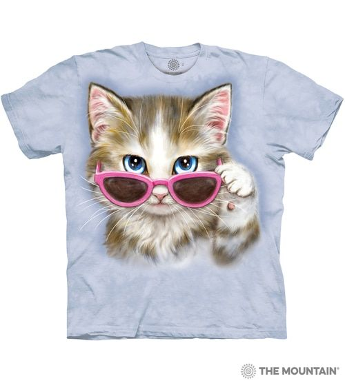 The Mountain Unisex Adult Cool Hipster Cat Manimal T Shirt