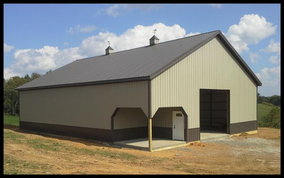 Best Taupe And Burnished Slate Pole Barn Barn Colors 400 x 300