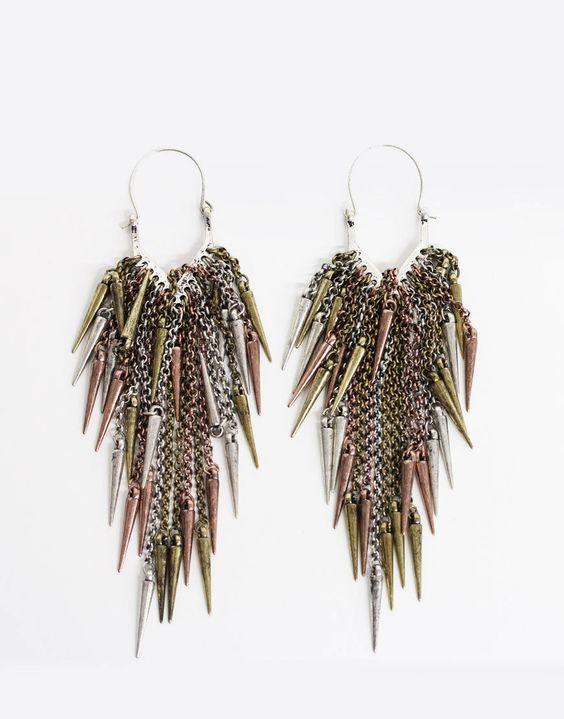 Dagger Cluster Earrings