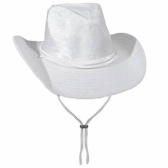 Cowboyhoed Wit Fluweel