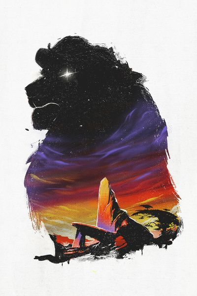 The Pride - inspired by The Lion King movie. Art Print