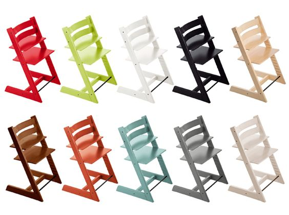 The Stokke Tripp Trapp highchair comes in pretty much any color you'd want.