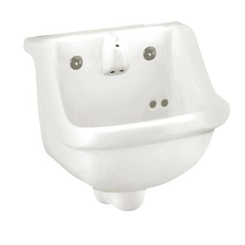 American Standard White Wall Mount Rectangular Bathroom Sink With