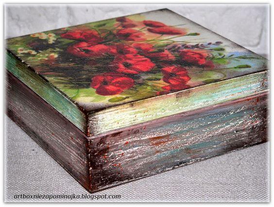 decoupage pudełko, caja, box: