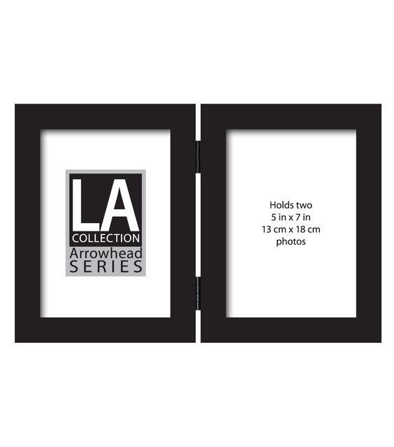 "5""X7"" LA Double Flattop Black Tabletop Frame"