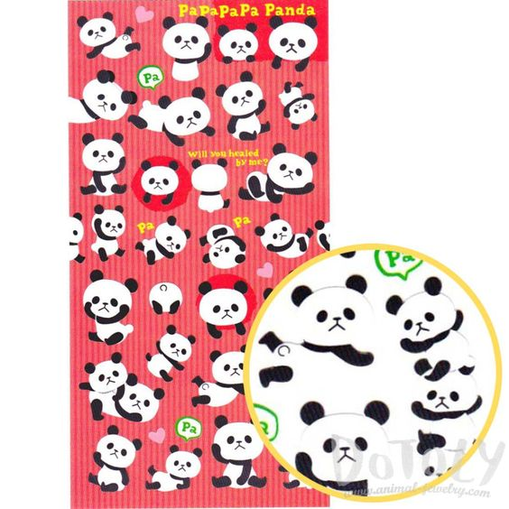 Adorable Panda Bear Animal Themed Stickers for Scrapbooking | Mind Wave Inc