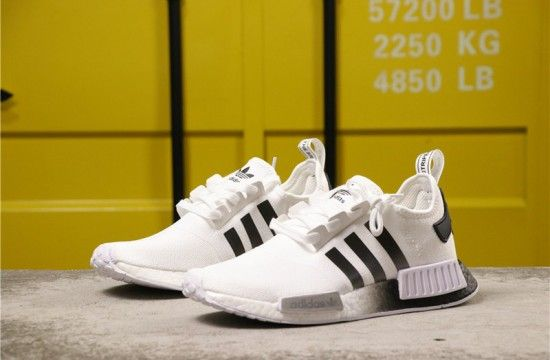 Adidas Nmd R1 White Black Gradient Eg7410