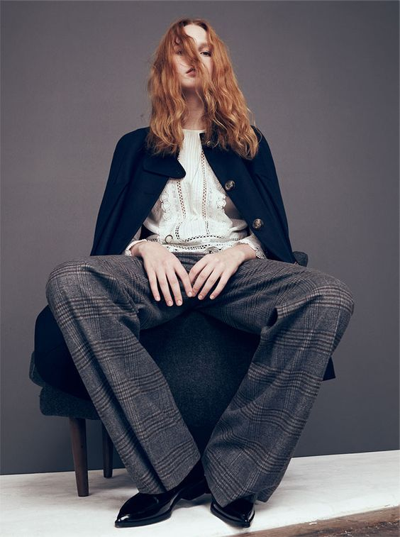 Zara Fall Winter 2015 Campaign : tailored, relaxed, masculine looks with high waisted flared trousers and suits. Are you ready to wear the pants?