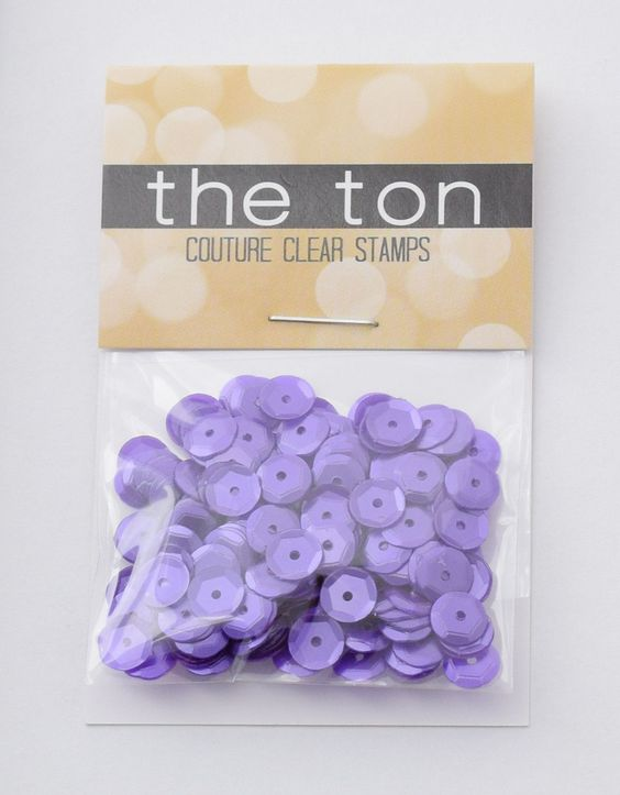 Triple Purple Crown Sequins - 6mm, 4mm