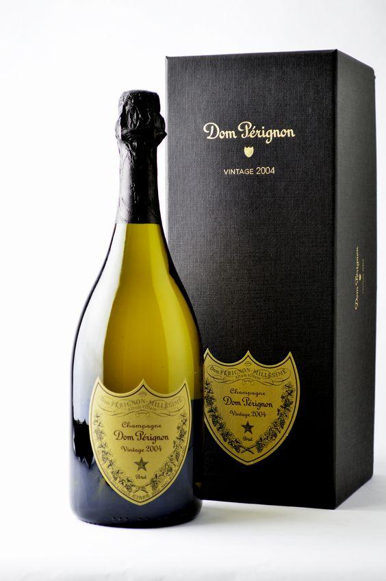 Champagne Dom Perignon: http://owcwines.com/wp-content/uploads/2014/04/dom-perignon-2004-2047-lowres.jpg