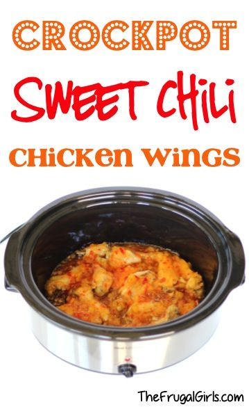 Crockpot Sweet Chili Chicken Wings Recipe! ~ from TheFrugalGirls.com ~ add the WOW-factor to any party or dinner... the Slow Cooker wings are a must-have on Game Day, too! #slowcooker #recipes #thefrugalgirls