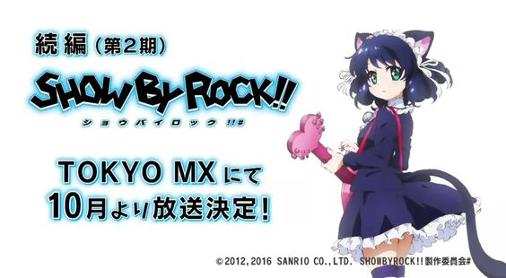 Vídeo de demostración de la segunda temporada de Show By Rock!!.