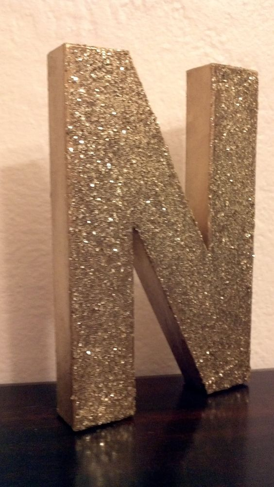 Featured in real simple glitter block letters monogram for Glitter cardboard letters