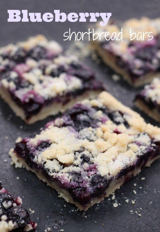 Blueberry shortbread bars - Amuse Your Bouche