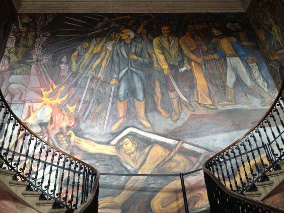 Murales de alfredo zalce en el interior del palacio de for El mural jalisco