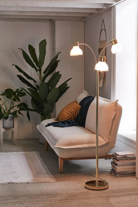 Freda Trio Floor Lamp Floor Lamps Living Room Lamps Living Room Contemporary Floor Lamps