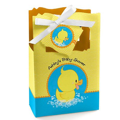 Ducky Duck - Personalized Baby Shower Favor Boxes | BigDotOfHappiness.com